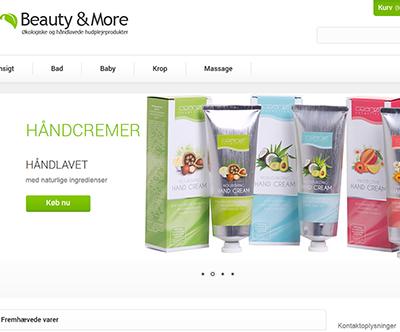 beautyandmore.dk webbutik