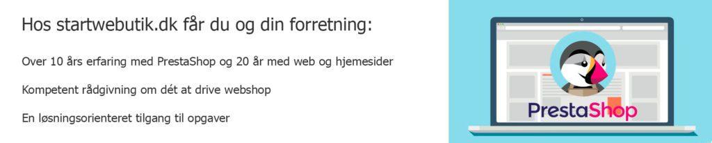 Startwebbutik.dk tilbyder kompenten rådgivning om PrestaShop